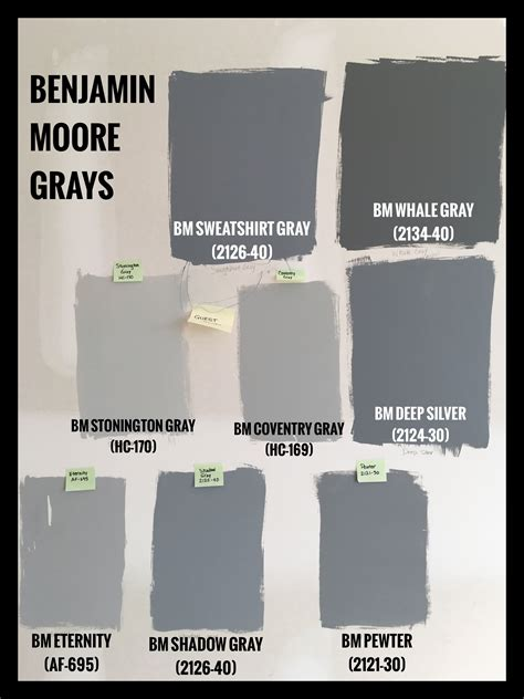 benjamin gray paint swatches bm sweatshirt gray