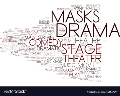 Drama Word Cloud Concept Royalty Free Vector Image