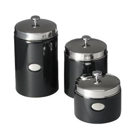black ceramic kitchen canisters black contempo canisters set of 3 opens in a window
