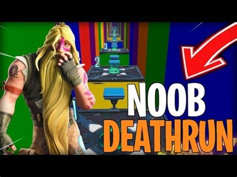 rainbow noob deathrun fortnite creative fortnite tracker