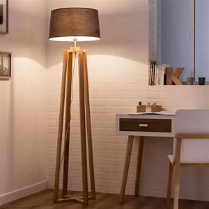 Lampe Salon Sur Pied Lampadaire Trepied Soldes