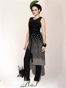 Peeacock Black Party Wear Kurti P-74 Cilory com