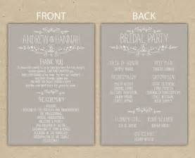 best wedding registries online wedding reception order of events template program weddi