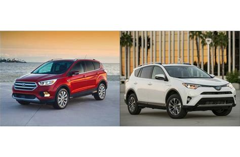 Ford Escape Vs Toyota Rav4 by 2017 Ford Escape Vs 2017 Toyota Rav4 To U S