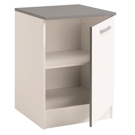 meubles de cuisine bas meuble bas de cuisine contemporain 60 cm 1 porte blanc