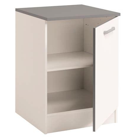 bas de cuisine meuble bas de cuisine contemporain 60 cm 1 porte blanc