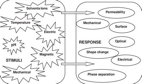 Potential stimuli and responses of synthetic stimuli-responsive...   Download Scientific Diagram