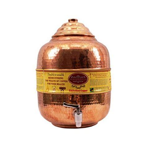 indian craft villa copper water potcopper matka  tap  cookware display cookware set