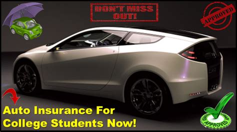 Student Car Insurance - Compare Cheap Auto Insurance For