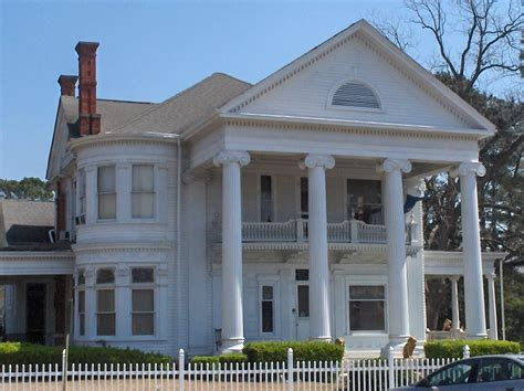 Greek Revival Style Architecture- House With Pillars