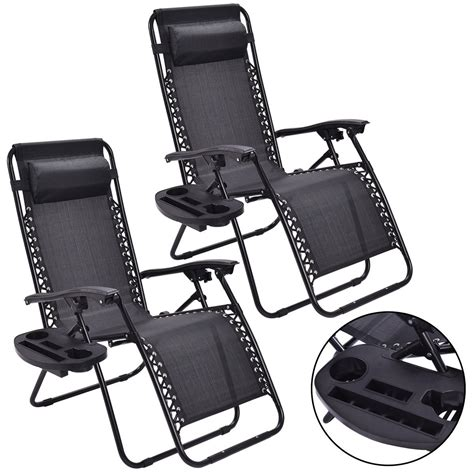 Outdoor Recliner Chair by Giantex 2pc Zero Gravity Chairs Lounge Patio Folding