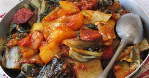 blette cuisine la cuisine d 39 ici et d 39 isca blettes au chorizo et aux tomates
