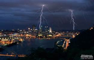 Pittsburgh Skyline Lightning