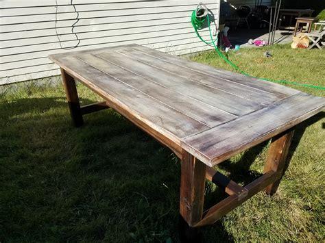 ana white farmhouse patio table diy projects
