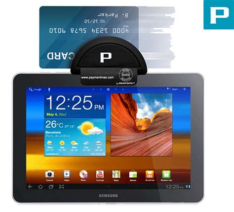 credit card reader for android samsung galaxy tab card reader www paymentmax 2012
