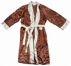 Lot detail rocky marciano worn boxing robe marciano for Marciano robe