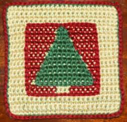 Christmas Tree Crochet Afghan Square Free Pattern