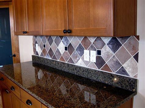 painted backsplash  faux tiles lots  examples