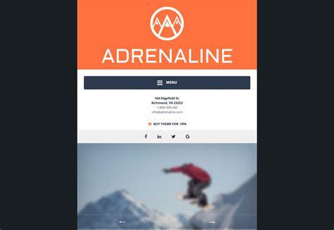 adrenaline wordpress theme siteorigin