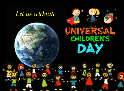 Celebrate Universal Children's Day. Free Universal