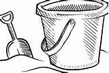 Coloring Bucket Pages Shovel Beach sketch template