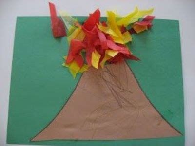 v craft site about children v volcano craft preschool items juxtapost