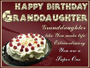 Happy Birthday Granddaughter Wishes