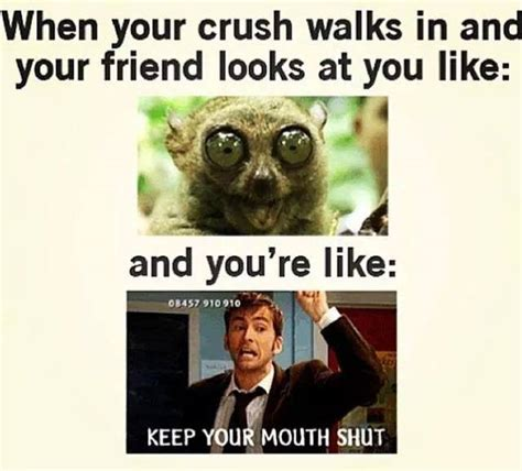 Cute Memes For Your Crush - when crush walks in funny pictures quotes memes jokes
