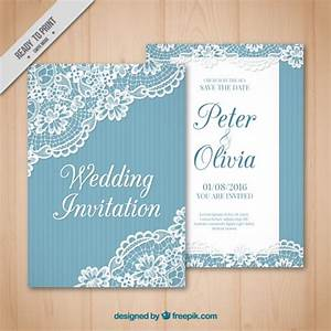 vintage wedding card with lace detail vector free download With vintage wedding invitation with lace free vector