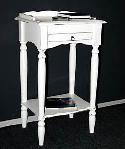 Telefontisch Weiß Hochglanz : massivholz konsolentisch wei shabby chic telefontisch beistelltisch ~ Markanthonyermac.com Haus und Dekorationen