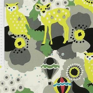 Canvas Stoff Gemustert : stoff canvas kayo horaguchi eule bambi grau gelb baumwollstoff 1 10m breite alle stoffe stoffe ~ Orissabook.com Haus und Dekorationen