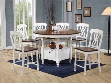 white walnut finish pc counter height dining set woptions