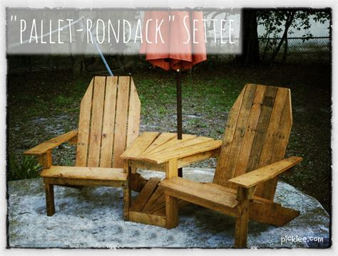 Pallet Settee by The Quot Pallet Rondack Quot Settee Your Picklee