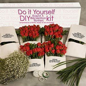 do it yourself diy red rose wedding flower kit by space