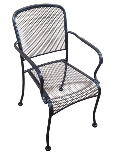 wrought iron black mesh dining arm chair chairs chairs