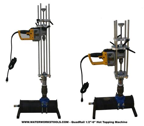 quad rail hot tapping machine complete kit