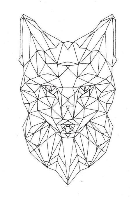 geometric fox face (unfinished) | Aesthetic | Pinterest