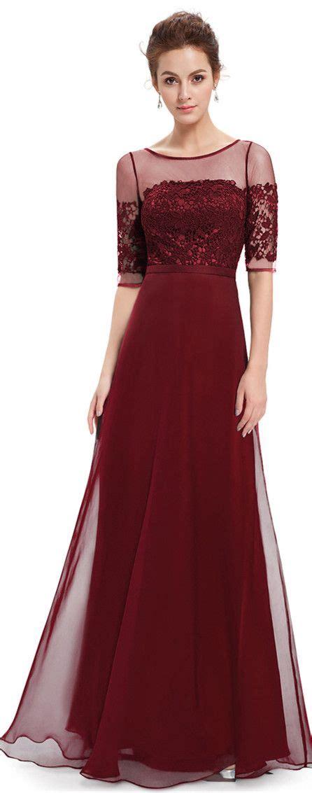 burgundy half sleeves maxi dress dress prom