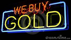 Neon WE BUY GOLD sign