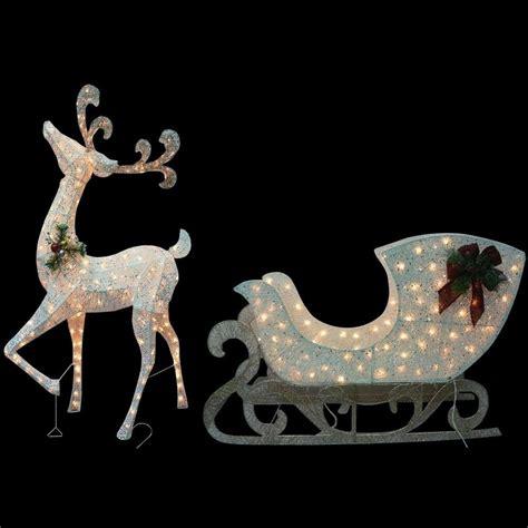 reindeer sleigh lawn decorations for christmas reindeer lighted yard displays wikii