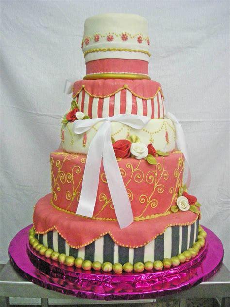 hochzeits torte pink kreativ auf jade