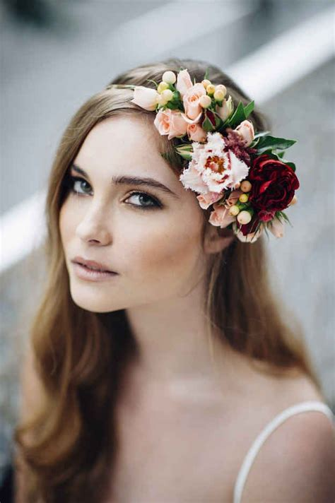 19 Gorgeous Floral Crowns For Fall Weddings Fall Flowers