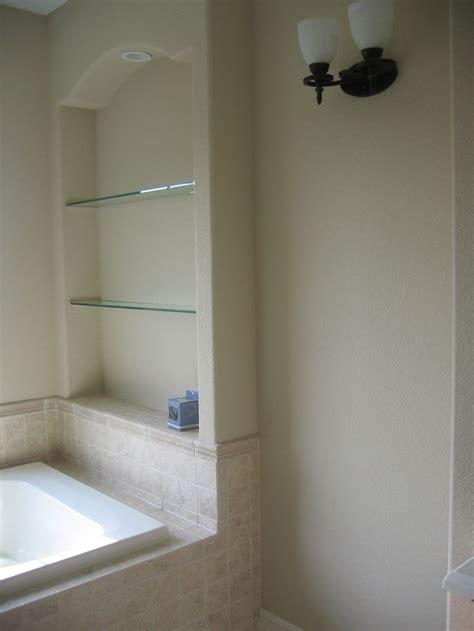 built  nook   drywall adds shelves