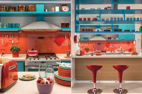 Azure Blue Red Orange Kitchen 5