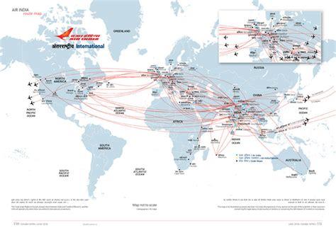 air indias international network world map air india