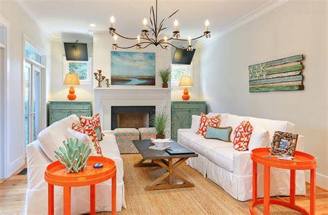 teal color living room decor orange and teal living room decor
