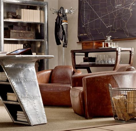 restoration hardware aviator desk world of interiors very plane style