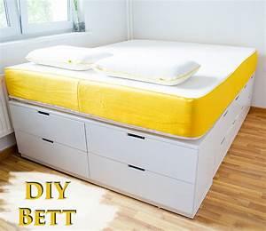 DIY IKEA HACk Plattform Bett selber bauen aus Ikea Kommoden /werbung › Anleitungen, Do it