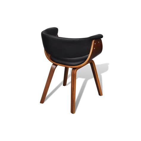 chaises simili cuir ensemble de 6 chaises en bois et dossier en simili cuir