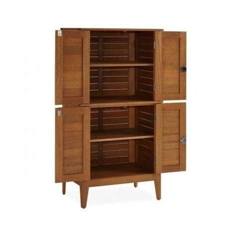 wooden 4 door multi purpose storage cabinet garden patio
